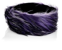 Dries Van Noten Women's Feather Choker Dark Purple