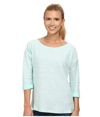 Columbia Coastal Escape 3 4 Sleeve Shirt Candy Mint Heather Women's Long Sleeve Pullover Green