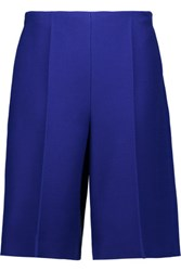 Valentino Wool And Silk Blend Shorts Royal Blue