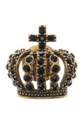 Marc Jacobs Crystal Pave Crown Brooch Black