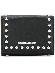 Dsquared2 Icon Snap Stud Wallet Women Calf Leather One Size Black