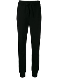 Dolce And Gabbana High Waisted Track Trousers Black
