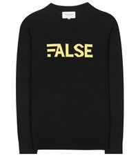 Public School False Wool Blend Sweater Black