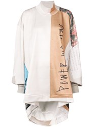 Marques Almeida Marques'almeida Asymmetric Turtle Neck Sweatshirt Nude And Neutrals