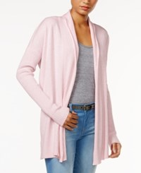 Tommy Hilfiger Open Front Cardigan Only At Macy's Heather Petal