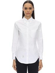 Thom Browne Cotton Poplin Shirt White
