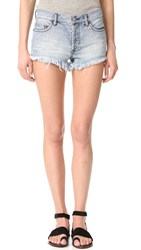 Free People Soft And Relaxed Cutoff Shorts Savannah Blue