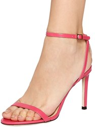 Jimmy Choo 85Mm Minny Brushed Leather Sandals Pink