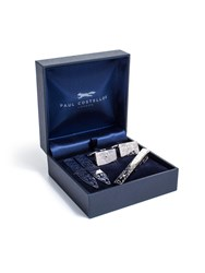 Paul Costelloe Paisley Etched Gift Set Silver
