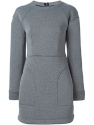 Dkny Cinched Waist Dress Grey