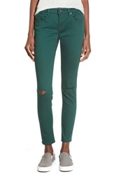 Junior Women's Vigoss Distressed Colored Skinny Jeans