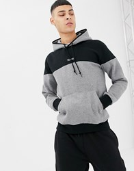 Primitive Pacer Hoodie With Contrast Panel In Grey