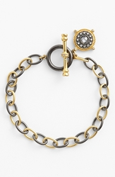 Freida Rothman 'Hamptons' Nautical Compass Charm Toggle Bracelet Gold Gunmetal