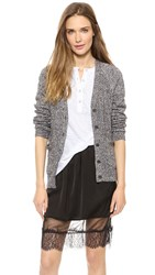 Madewell Solid Jillian Swing Cardigan Marled Black