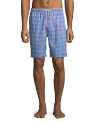 Peter Millar Reptile Swim Trunks Blue