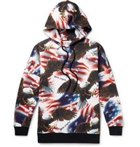 Palm Angels Printed Fleece Back Cotton Jersey Hoodie Multi