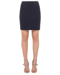 Akris Punto Stretch Jersey Mini Skirt Denim