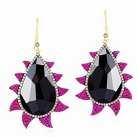 Meghna Jewels Multi Color Claw Drop Earrings