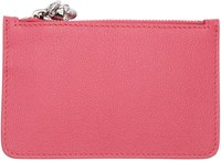 Alexander Mcqueen Pink Leather Coin Pouch