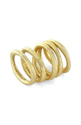 Women's Louise Et Cie Textured Rings Set Of 5