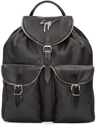 Giuseppe Zanotti Black Leather Boris Backpack