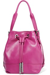 Opening Ceremony Mini Izzy Convertible Leather Backpack Purple