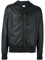 Msgm Elastic Cuffs Hooded Jacket Black