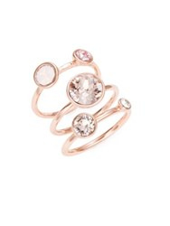 Ted Baker Jackie Jewel Stacked Rings Pink