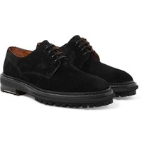 Lanvin Suede Derby Shoes Black