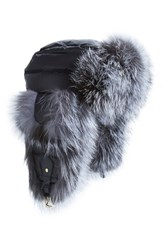 Tasha Tarno Women's Nylon And Genuine Fox Fur Trapper Hat