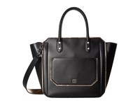 Ivanka Trump Tribeca Solutions Satchel Prosecco Core Metallic Satchel Handbags Black