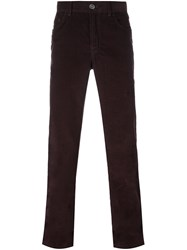 Brioni Classic Chino Trousers Red