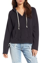 Joe's Jeans Women's Rowen Distressed Hoodie Black