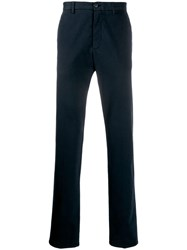Z Zegna Slim Fit Tailored Trousers Blue