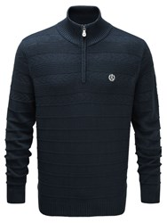 Henri Lloyd Norbeck Regular Half Zip Knit Navy