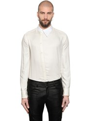 Tom Rebl Viscose Twill Shirt W Asymmetric Collar