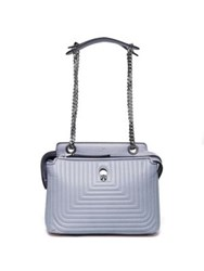 Fendi Dotcom Click Quilted Leather Chain Satchel Ardesia