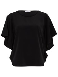 Gina Bacconi Soho Crepe Top Black