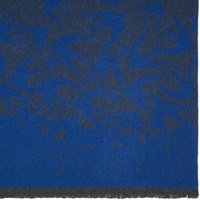 Mcq By Alexander Mcqueen Blue And Gray Swallow Knit Scarf
