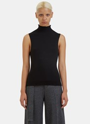 Calvin Klein Braidy Ribbed Knit Tank Top Black