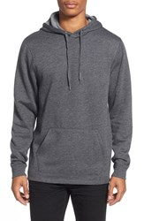 Men's The Rail Side Zip Pullover Hoodie Black Jet