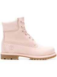 Timberland Lace Up Boots Pink