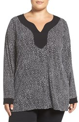 Michael Michael Kors Plus Size Women's Graphic Scale Print Border Tunic