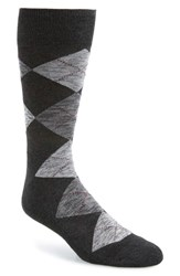 Nordstrom Shop Marled Argyle Socks Charcoal Grey