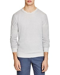 The Men's Store At Bloomingdale's Linen Cotton Crewneck Sweater Grey