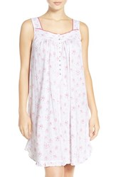 Eileen West Women's Print Cotton And Modal Chemise