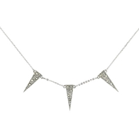 Cachet London Dart Necklace Silver