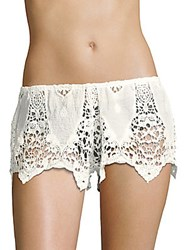 Eberjey Spirit Dancer Sam Cotton Shorts White