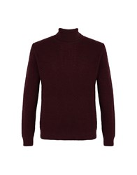 8 Knitwear Turtlenecks Maroon