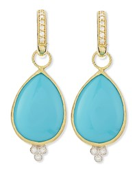 Jude Frances Large Pear Turquoise Earring Charms With Diamonds Judefrances Jewelry